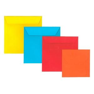 180x180 mm színes boríték