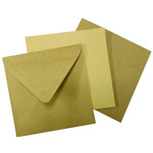 140x140 mm barna boríték